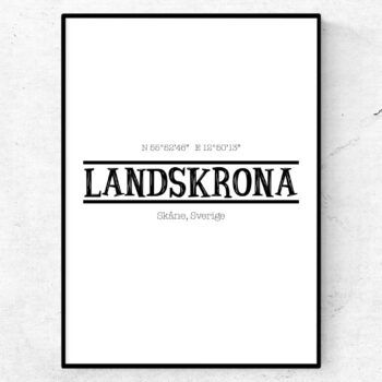 landskrona poster tavla stadsposter