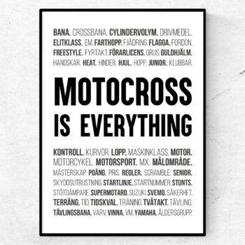 motocross poster ord tavla motocross motorcykel