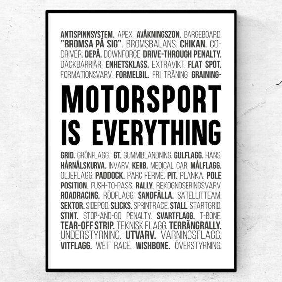 motorsport poster bilsport rally racingord tavla