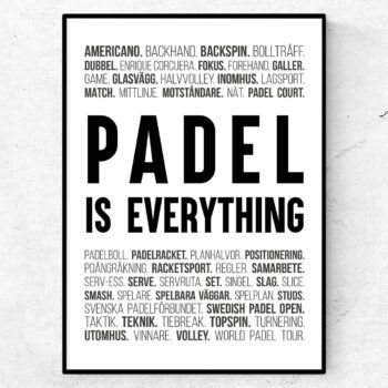 padel is everything sport termer ord padel paddel padelhall
