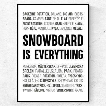 snowboard poster ord tavla snowboard