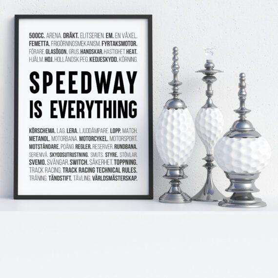 speedway poster ord tavla speedway racing motorcykel