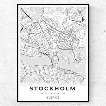 stadskarta city map stad poster karta