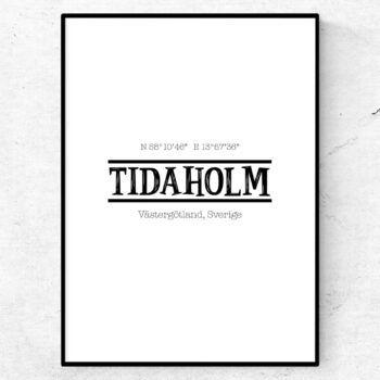 tidaholm poster tavla stadsposter