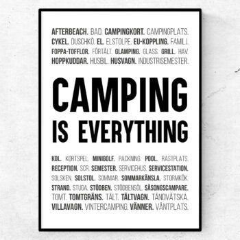 camping is everything termer ord husvagn husbil