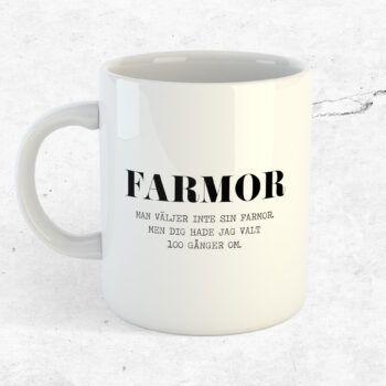 Man väljer inte sin farmor mugg kopp present farmor