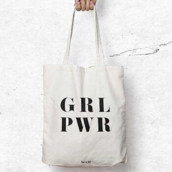 girl power tygpåse feminism