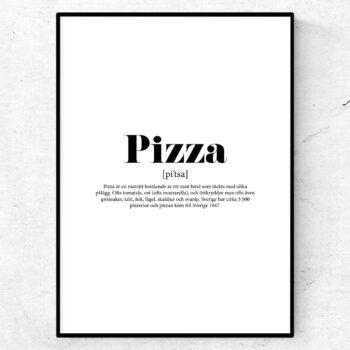pizza poster tavla lexikon print