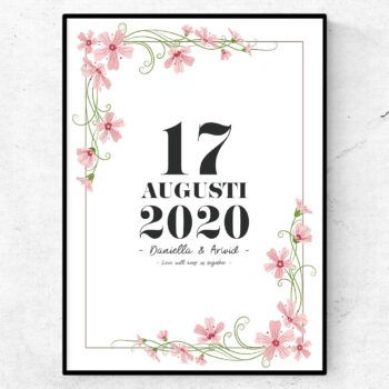 Summer love kärlek tavla poster par bröllopspresent affisch print