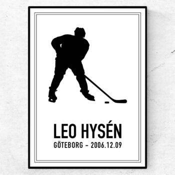 hockey poster tavla födelsetavla present