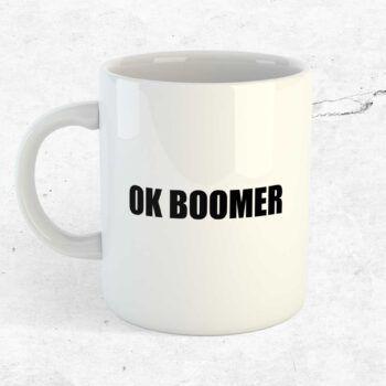 ok boomer kopp mugg kaffekopp