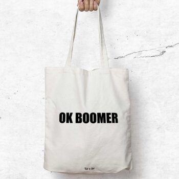 ok boomer tygkasse tygpåse