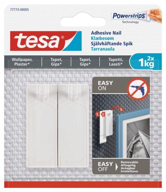 Självhäftande Spik TESA Tapet 1,0kg, 2-pack