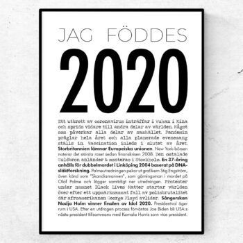 2020 årtalsposter modern