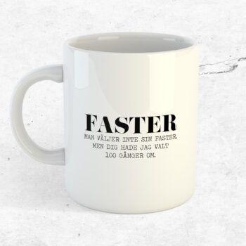 faster mugg present kopp