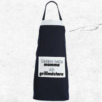 världens bästa mamma och grillmästare present förkläde