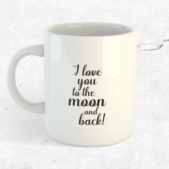 I love you to the moon and bak mugg kärlek kopp alla hjärtans dag
