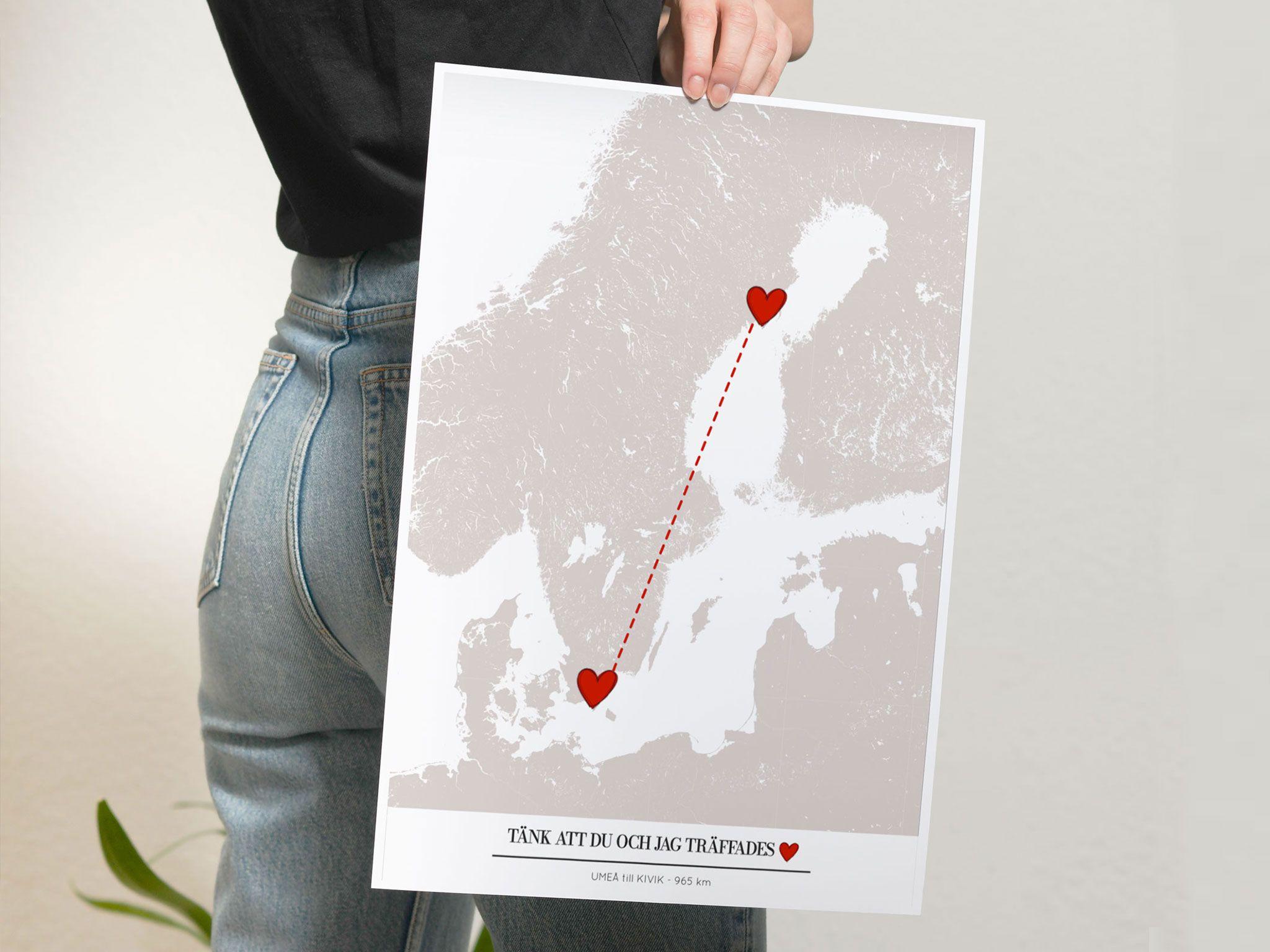 Kärlekskarta personlig present alla hjärtans dag