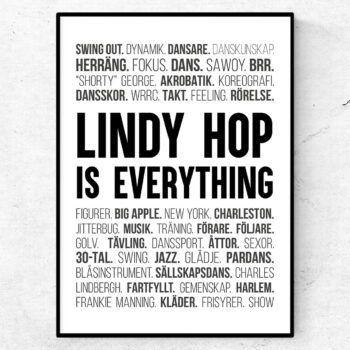 lindy hop poster tavla