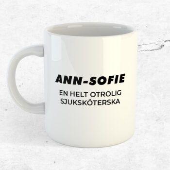 Sjuksköterska kopp mugg present