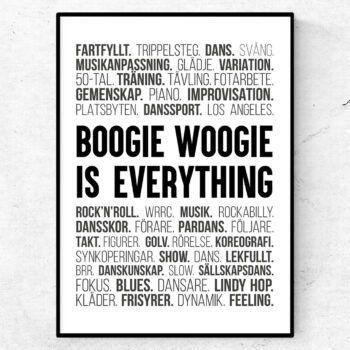 boogie woogie poster tavla