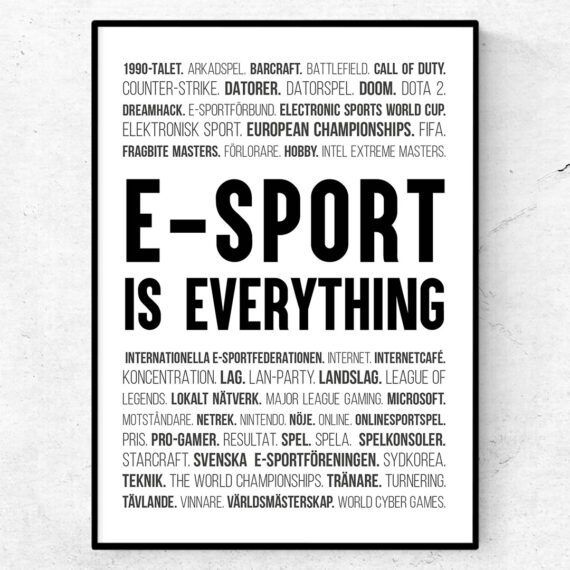 e-sport is everything poster