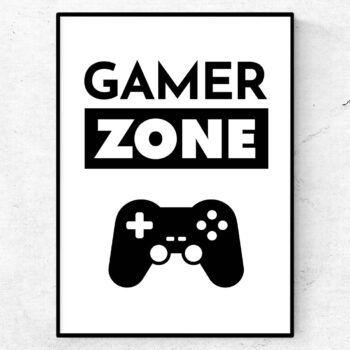 gamer zone poster present till gaming citat