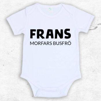 busfrö baby body med egen text