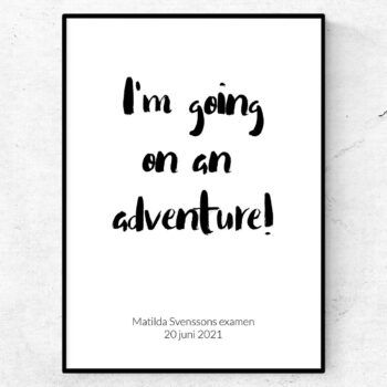 I'm going on an adventure poster student examen