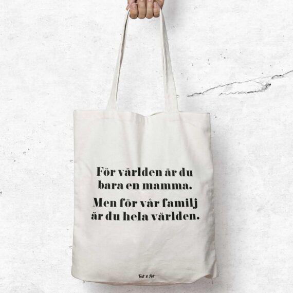 Mamma för världen tygpåse mors dag present