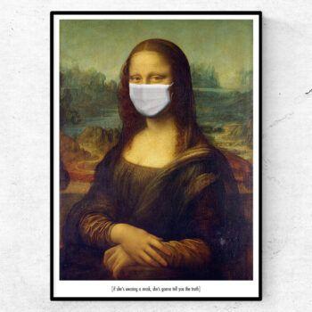The mask of Mona Lisa poster tavla