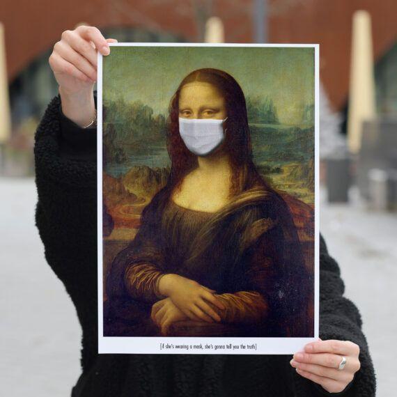 Mona lisa poster tavla