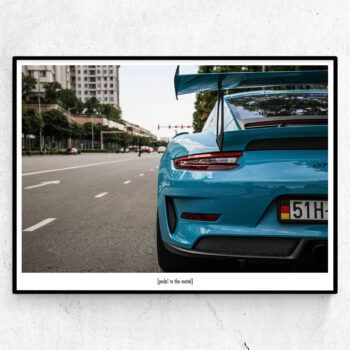 pedal to the metal poster porsche