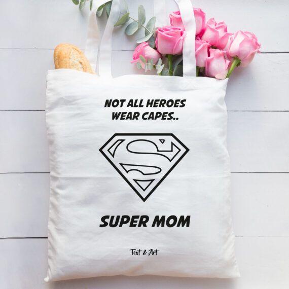 Super mom tygpåse mamma present mors dag