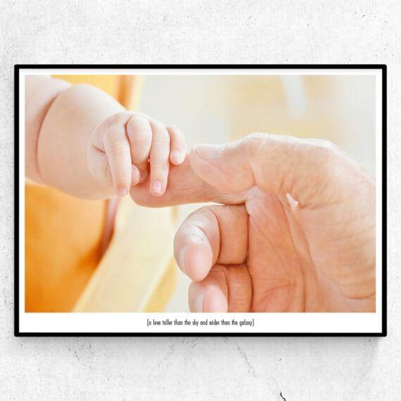 A love taller than the sky familj barn förälder poster