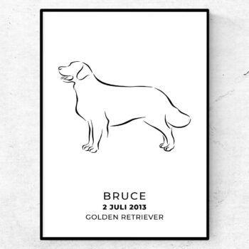 Golden Retriever med eget namn poster tavla