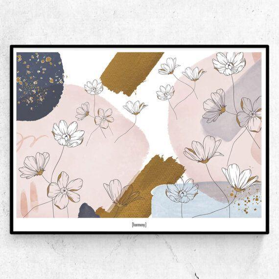 Harmony poster illustration blommor