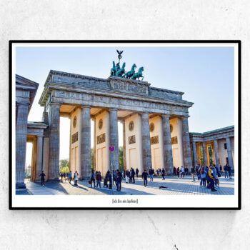 Ich bin ein berliner poster, Berlin Brandenburger Tor