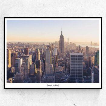 New York City Skyline tavla poster