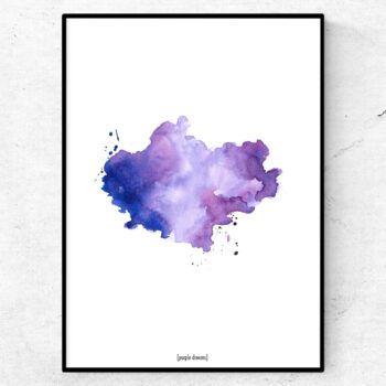 Purple dreams illustration tavla vattenfärg poster