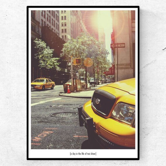taxi new york poster