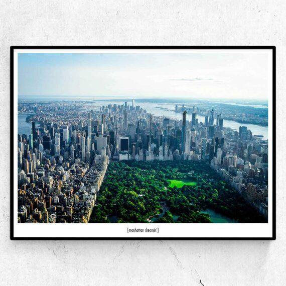 Manhattan Dreamin' - poster från New York med Central Park