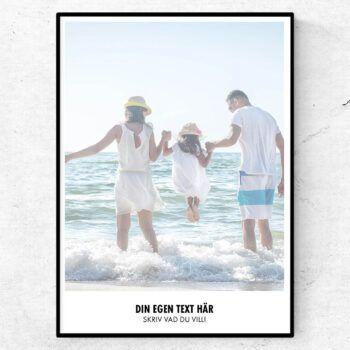 memory art poster med egen bild och text. Designa din egen poster
