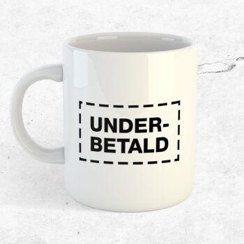 underbetald mugg kopp