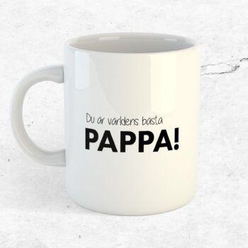 Du är världens bästa pappa mugg kopp