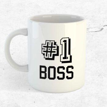 Number 1 boss mugg. Present till chef