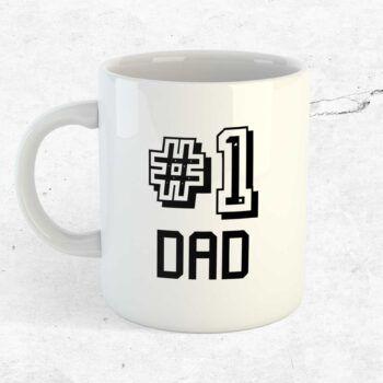 Number 1 dad mugg kopp